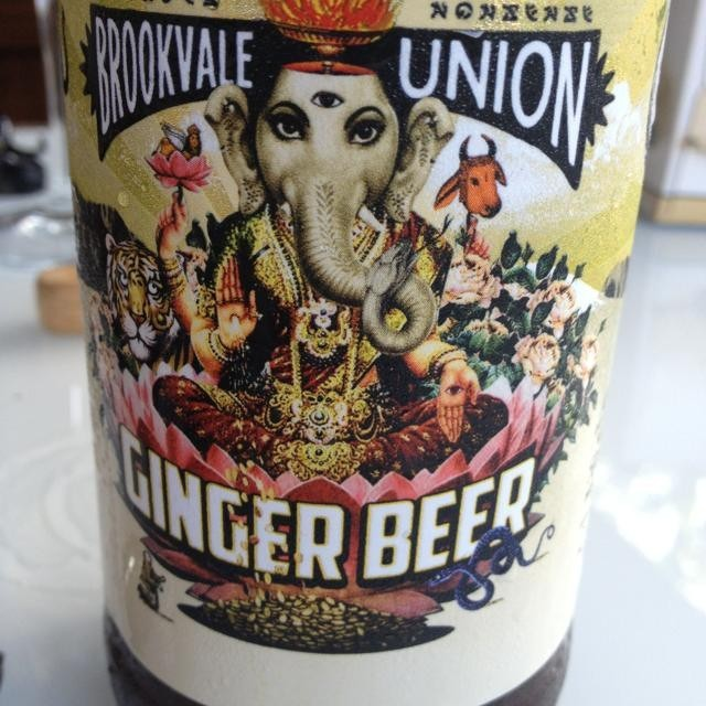 hindu goddess on beer bottle