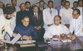 Rajiv Gandhi JR Jayewardene