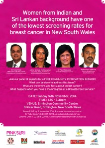Free Community seminar for info on Breast Cancer screening