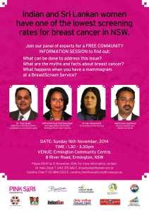 Breast Cancer Free Seminar 16th Nov, 2014