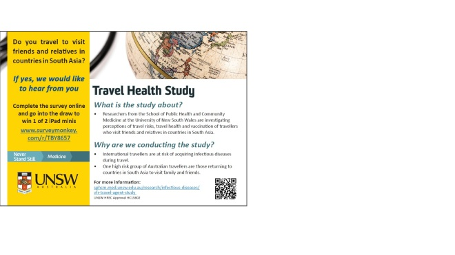 Travel health Survey_Facebook image