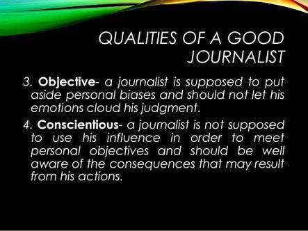 a good journalist qualities