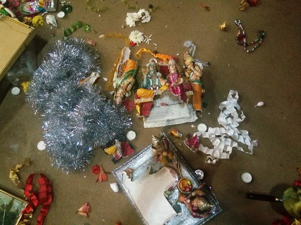 Hindu temple in Sydney damaged1