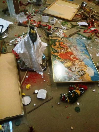Hindu temple in Sydney damaged2